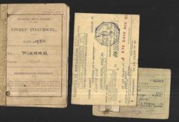Livret Militaire Indivviduel , Fascicule De Mobilisation, Coupon De Transport Et Brevet - Documenti