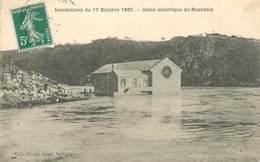 """.CPA  FRANCE 42 """"Roanne, Usine électrique Du Roannais, Inondations Du 17 Octobre 1907"""" - Roanne"""