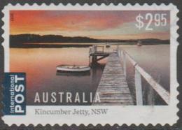 AUSTRALIA - DIE-CUT-USED 2017 $2.95 Australian Jetties, International - Kincumber, New South Wales, At Sunset - 2010-... Elizabeth II