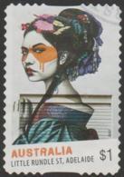 AUSTRALIA - DIE-CUT-USED 2017 $1.00 Street Art - Little Rundle Street, Adelaide, South Australia - 2010-... Elizabeth II