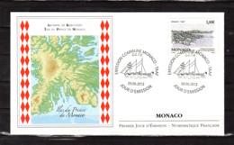 """"""" ARCHIPEL DE KERGUELEN / ILES DU PRINCE DE MONACO """" Sur Enveloppe 1er Jour De 2012  N° YT 2829 Parfait état. FDC - FDC"""