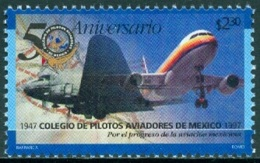 MEXICO 1997 AVIATION PILOTS SCHOOL, AIRCRAFT** (MNH) - México