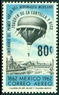 MEXICO 1962 FIRST CONTROLLED BALLOON FLIGHT ANNIVERSARY** (MNH) - Messico