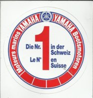 Autocollant - Moteurs Marins Yamaha - Yamaha Bootsmotoren - Le N° 1 En Suisse - Autocollants