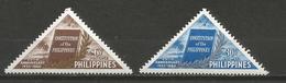 Philippines - 1960 Constitition Anniversary MNH **      Mi 648-9  Sc 814 & C82 - Philippines