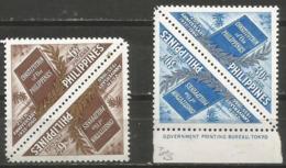 Philippines - 1960 Constitition Anniversary Tete-beche MNH **      Mi 648-9  Sc 814 & C82 - Philippines