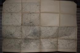 Carte Corps D'Etat-major Dépôt De La Guerre 1915 Lille 85 X 60 Cm - Documenti