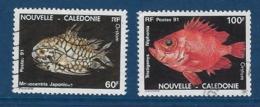 "Nle-Caledonie YT 617 & 618 "" Poissons "" 1991 Oblitéré - Neukaledonien"
