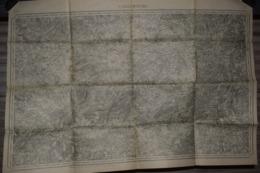 Carte Corps D'Etat-major Dépôt De La Guerre 1911 Sarrebourg 85 X 60 Cm - Documenti