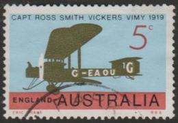 AUSTRALIA - USED 1969 5c 50th Anniversary First Flight To United Kingdom - Vickers Vimy Aircraft - 1966-79 Elizabeth II