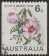 AUSTRALIA - USED 1970 6c Sturt's Desert Rose - Flower Coil - 1966-79 Elizabeth II