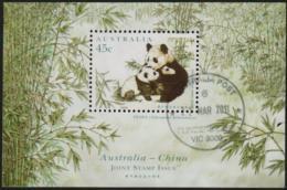 AUSTRALIA - USED 1995 45c Joint Issue With China - Panda Souvenir Sheet - 1990-99 Elizabeth II