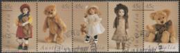 AUSTRALIA - USED 1997 45c Dolls And Bears, Strip Of Five - 1990-99 Elizabeth II