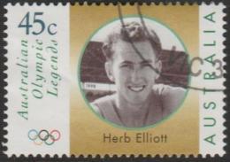 AUSTRALIA - USED 1998 45c Olympic Legends - Herb Elliott - Face - 1990-99 Elizabeth II