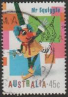 AUSTRALIA - USED 1999 45c Children's Television - Mr. Squiggle - 1990-99 Elizabeth II