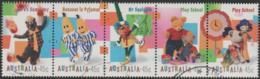 AUSTRALIA - USED 1999 45c Children's Television, Strip Of Five - 1990-99 Elizabeth II