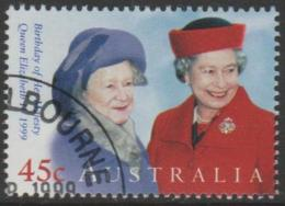 AUSTRALIA - USED 1999 45c Queen Elizabeth II Birthday - Queen Mother And Queen Elizabeth II - 1990-99 Elizabeth II