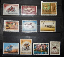 A105  PORTUGAL LOT OF 10 DIFFERENT STAMPS - Portugal