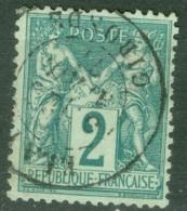 France  74  Ob  TB Et  Bien Centré - 1876-1898 Sage (Type II)