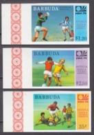 1974Barbuda175-177b1974 World Championship On Football Of Munich - Fußball-Weltmeisterschaft