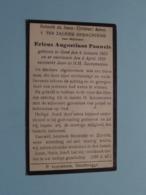 DP Ericus Augustinus PAUWELS () Gent 8 Jan 1853 - 4 April 1920 ( Zie Foto's ) ! - Obituary Notices