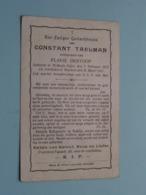 DP Constant TAELMAN ( Flavie DESTOOP ) St Baefs-Vyfve 7 Feb 1872 - Wacken 26 Maart 1917 ( Zie Foto's ) ! - Obituary Notices