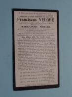 DP Franciscus VELGHE ( Zoon Van D'Artois / Weduwnaar Meseure ) Iseghem 13 Nov 1828 - 28 Oct 1916 ( Zie Foto's ) ! - Obituary Notices