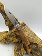 Couteau De Poche 21,5cm - Bois De Palissandre Gravé Sanglier - Armes Blanches