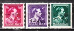 724N/P**  Leopold III Col Ouvert Surchargé -10% - TUBIZE - Série Complète - MNH** - LOOK!!!! - 1946 -10%