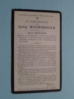 DP Sylvia WEERBROUCK ( Henri Deputter ) Oostduinkerke 30 April 1867 - Oostende 19 Nov 1919 ( Zie Foto's ) ! - Obituary Notices