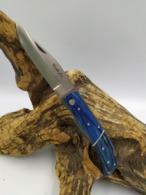 Couteau CRAN D'ARRET Chasse 21,5cm - Bois BLEU - Armes Blanches