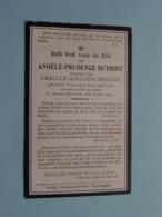 DP Angèle DUTHOIT ( Dochter Van BREYNE ) Poperinghe 8 April 1900 - Brussel-Etterbeek 31 Juli 1919 ( Zie Foto's ) ! - Obituary Notices