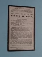DP Petrus DE KNIJF ( Joanna Vermeulen ) Wanzele 15 Dec 1840 - Wichelen 12 Sept 1917 ( Zie Foto's ) ! - Obituary Notices