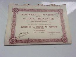 NOUVELLE MAISON DE LA PLACE BLANCHE (55 Boulevard De Clichy PARIS)1933 - Actions & Titres