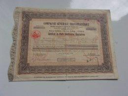 COMPAGNIE GENERALE TRANSATLANTIQUE (certificat) 1934 - Actions & Titres