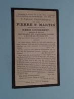 DP Pierre St. MARTIN ( Weduwnaar COUSSEMENT ) Pervyse 4 Dec 1845 - Kortrijk 3 Nov 1917 ( Zie Foto's ) ! - Obituary Notices
