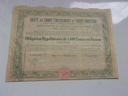 Grands établissements Du TOUQUET-PARIS-PLAGE (hotels,casinos,Ets Thermal) 1933 - Actions & Titres