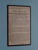 DP Jozef Van QUICKELBORNEE > Rijtuigschilder ( Van Roosebeke ) Brugge 15 Feb 1844 - 17 April 1919 ( Zie Foto's ) ! - Obituary Notices