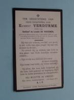 DP Evarist VERDURME ( Zoon Van De VISSCHER ) Zeveneeken 1 Sept 1895 - Parijs 15 Jan 1914 ( Zie Foto's ) ! - Obituary Notices