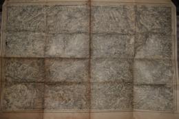 Carte Corps D'Etat-major Dépôt De La Guerre Revisité 1902 Cambrai 85 X 60 Cm - Documenti