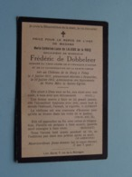 DP Marie De LALIEUX De La ROCQ ( Frédéric De DOBBELEER ) Feluy 3 Juil 1827 - Bruxelles 10 Juil 1913 ( Zie Foto's ) ! - Obituary Notices