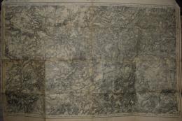 Carte Corps D'Etat-major Dépôt De La Guerre 1917 Laon 85 X 60 Cm - Documenti
