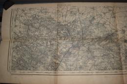 Carte Corps D'Etat-major Dépôt De La Guerre 1915 Maubeuge 90 X 31 Cm - Documenti
