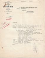 Lettre Du Maire De St-Denis-du-Sig (Algérie), 2/3/1955 - Documentos Históricos