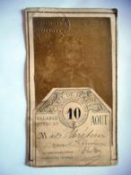 RARE TICKET D ENTREE AVEC PHOTO FORMAT CDV EXPOSITION UNIVERSELLE DE 1867 PARIS - Tickets D'entrée