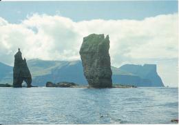 Faroe Islands Postcard Sent To Denmark 5-7-1988 (The Giant And The Hag) - Faroe Islands