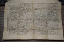 Carte Carroyage Kilométrique ( Projection Lambert) Révisé 1914 Douai  74 X 52 Cm - Documenti