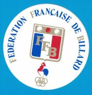 AUTOCOLLANT FFB FEDERATION FRANCAISE DE BILLARD LOGO JEUX OLYMPIQUES - Autocollants