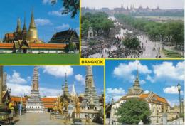 Thailand Postcard Sent To Denmark 30-9-2005 Emerald Buddha Temple Bangkok - Thailand