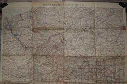 Carte Service Géographique De L'Armée 1940 Département Du Nord 84 X 74 Cm - Documenti